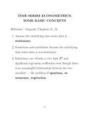 TIME SERIES ECONOMETRICS: SOME BASIC CONCEPTS ...