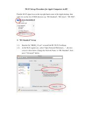 Wi-Fi Set-up Procedure for Apple Computers in BU
