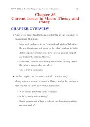 Chapter 36 Current Issues in Macro Theory and Policy
