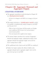 Chapter 29: Aggregate Demand and Aggregate Supply