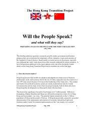 Will the People Speak? - Hong Kong Baptist University