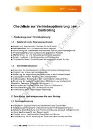 checkliste vertriebscontrolling - HKC-Consulting