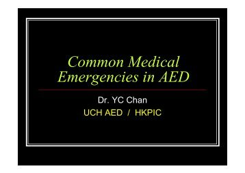 3_ Common Medical Problems in AED