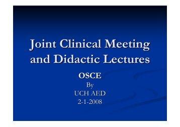 OSCE - Hong Kong College of Emergency Medicine