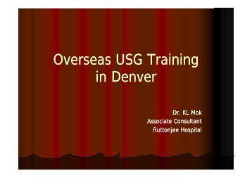 Overseas USG Training in Denver