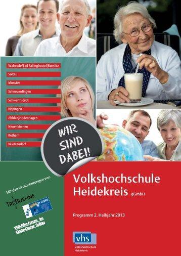 Programm 2. Halbjahr 2013 - Volkshochschule Heidekreis gGmbH
