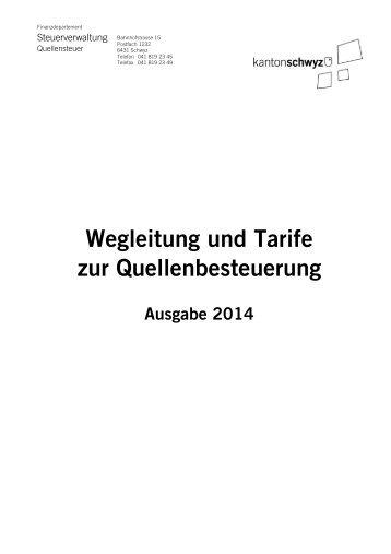 Wegleitung und Rechenbeispiele - Kanton Schwyz