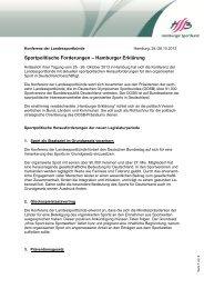 Hamburger Erklärung - Der Deutsche Olympische Sportbund