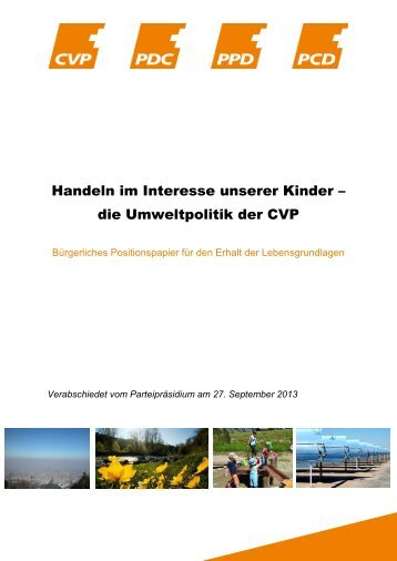 Positionspapier - CVP Schweiz
