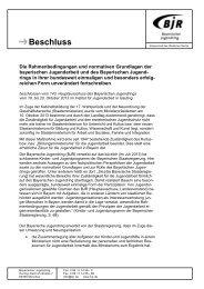 Beschluss - Bayerischer Jugendring