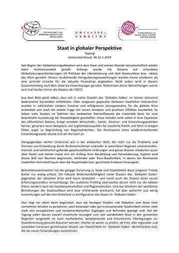 Staat in globaler Perspektive - DVPW
