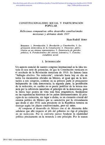 Constitucionalismo social y participación popular - Biblioteca ...