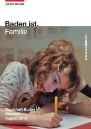 Konzept Tageshort - Stadt Baden