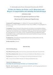 20 Jahre des Schutzes der Rechte von EU-Bürgerinnen und ...