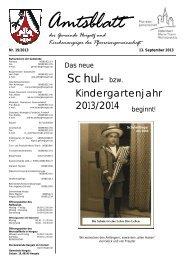 Gemeindeblatt Nr. 19 vom 13.09.2013 - Gemeinde Hergatz