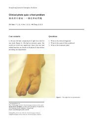 Clinical photo quiz: a foot problem - Hong Kong College of ...
