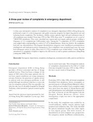 A three-year review of complaints in emergency department