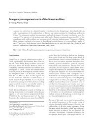 Emergency management north of the Shenzhen River - Hong Kong ...