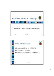 Basic Ultrasound Physics - Hong Kong College of Emergency ...