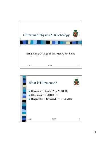 Basic Ultrasound Physics - Hong Kong College of Emergency ...