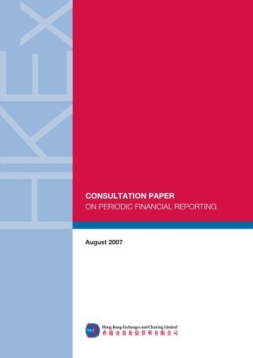 Consultation Paper on Periodic Financial Reporting - Hong Kong ...