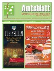 Verbandsgemeinde Freinsheim - Urlaubsregion Freinsheim