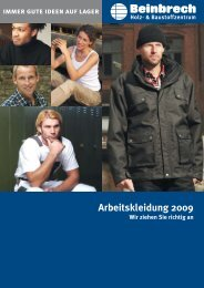 Katalog Arbeitskleidung 2009 - Beinbrech