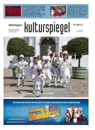 Thüringen Kulturspiegel September 2013 - Thueringen ...