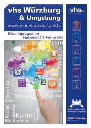 Programmheft 2 / 2013 - VHS Würzburg