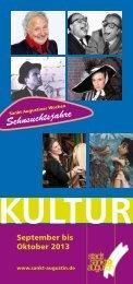 Veranstaltungskalender September - Oktober 2013 - Stadt Sankt ...