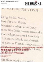 anrufung des großen bären – ingeborg bachmann – gedichte A