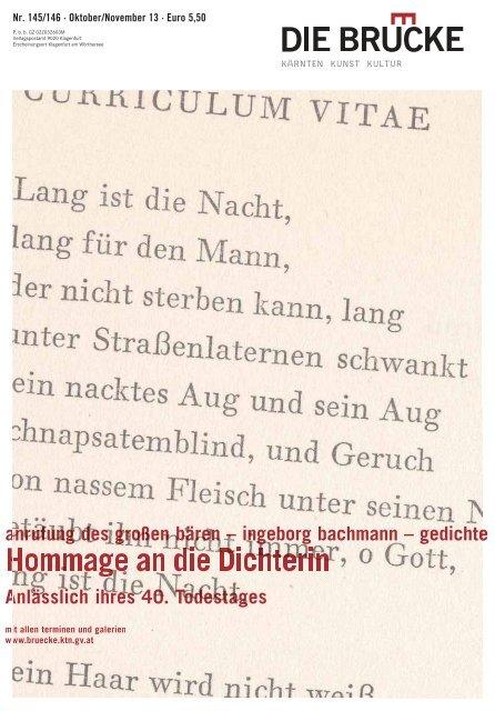 Anrufung Des Großen Bären Ingeborg Bachmann Gedichte A