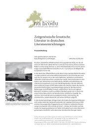 Zeitgenössische kroatische Literatur in deutschen ... - Traduki