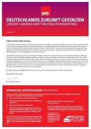 Unsere Handschrift im Koalitionsvertrag - SPD