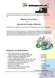 Bayerischen Landtag in München - AWO Bamberg