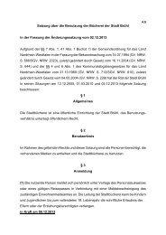 Satzung über die Benutzung der Bücherei der Stadt Brühl (4.9)
