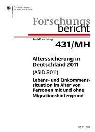 Alterssicherung in Deutschland 2011 - Bundesministerium für Arbeit ...
