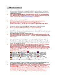 FAQ Ausländerregelung