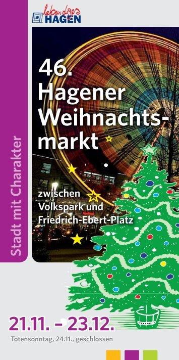 Broschüre Weihnachtsmarkt 2013 als PDF-Download - Hagen