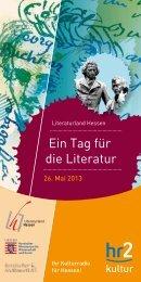 Literaturland Hessen – Ein Tag für die Literatur - Hessischer Rundfunk