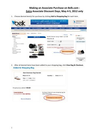 Extra Associate Discount Days, May 4-5, 2012 only - Belk