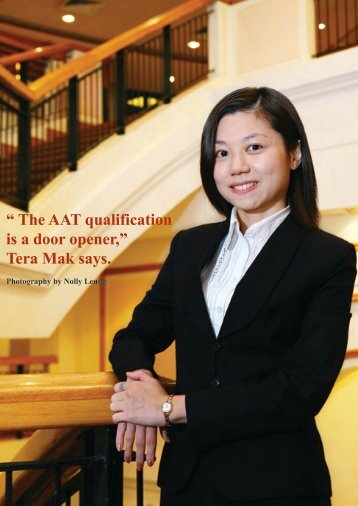 The AAT qualification is a door opener - Hong Kong Institute of ...