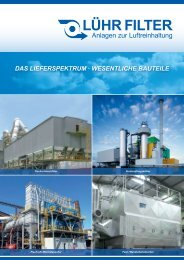 das lieferspektrum - LÜHR FILTER GmbH & Co. KG