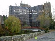 Gerhard Joksch: Hinweise und Vorschläge für die politische Beratung