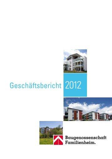 Geschäftsbericht 2012 - Familienheim Schwarzwald-Baar-Heuberg eG