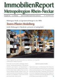 ImmobilienReport Metropolregion Rhein-Neckar: Ausgabe 62