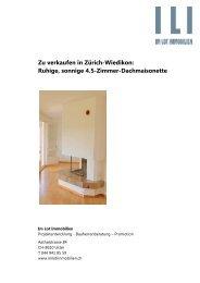 Verkaufsbroschüre - Im Lot Immobilien