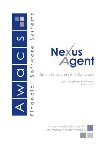 Die Immobilienmakler-Software - Awacs Financial Software Systems