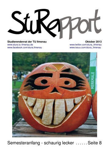 StuRapport 2013 10 - StuRa TU Ilmenau