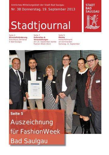 Stadtjournal Ausgabe 38/2013 - Stadt Bad Saulgau